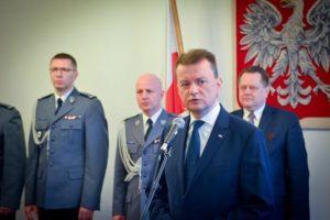 Szef MSWiA Mariusz Błaszczak - fot. portal mswia.gov.pl