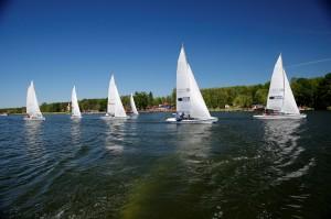 II Mistrzostwa Policji w Żeglarstwie Jezioro Sława maj 2017